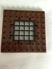 Lego Duplo Castle Reddish brown trap door with grate