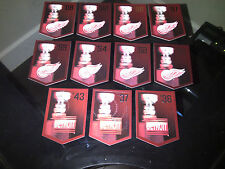 DETROIT RED WINGS Team Set Molson Coors Budweiser Panini Stanley Cup Banners
