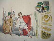 MÉTAMORPHOSES DU JOUR signé GRANDVILLE 1869 SUPERBES COULEURS RARE !
