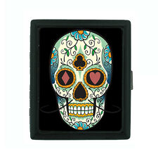 Metal Cigarette Case Holder Box Skull Design-016