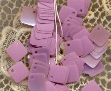 Belgium Vintage Sequins Lavender Lilac Iris Square Paillettes 6mm Charms Drops