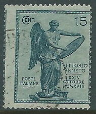 1921 REGNO USATO VITTORIA 15 CENT VARIETà DENTELLATURA - S121