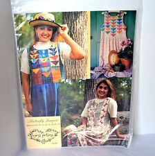 Mary's Patterns Butterfly Plaid Garden Jumpers Modest Women's Quilt Sewing 8-22
