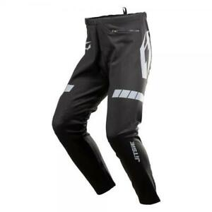 JITSIE TRIZTAN TRIALS BIKE RIDING PANTS / TROUSERS. BLACK/SILVER. GREAT QUALITY