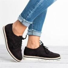 BRAND NEW womens lace up perforated oxford shoes Black SKU OX7U7E82 - NEVER WORN