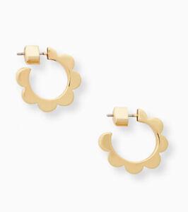 Kate Spade White Enamel Huggies Earrings