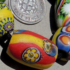 variety of 6 old antique venetian millefiori african trade beads #3210