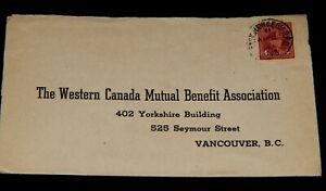 Vintage Cover, CANADA, POSTAL HISTORY, 1949, King George VI, Red,To Vancouver,BC