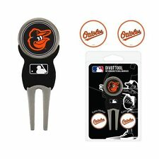 Baltimore Orioles MLB Team Golf Divot Tool with 3 Magnetic Ball Markers