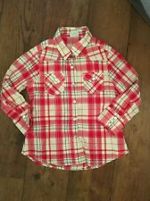 Next Checked Shirt Long Sleeve Pearl Popper Buttons Age 4 Long Sleeve