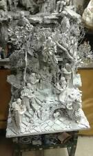 presepe napoletano marmorizzato con pastori 20 cm terracotta crib 55x40 h60cm sa