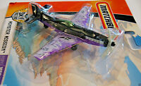 P-51 Fighter Die Cast Metal, MatchBox Monster Mission New on it's Card 2007 Rare
