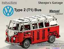 Sheepo's Lego Technic Custom Volkswagen T1 Bus '65 MANUAL, ONLY INSTRUCTIONS!!