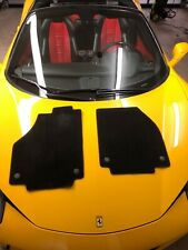 FERRARI 458 ITALIA DRIVER & PASSENGER BLACK FLOOR MAT CARPET SET OEM 83236090