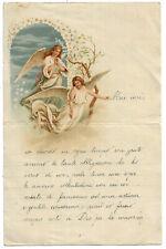 LETTERINA DI NATALE. BELLISSIMA CON ANGELI, 1909