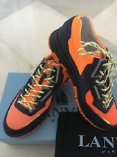 LANVIN PARIS Combined Blue/Orange Trainers Shoes 40 UK 7 BNWT