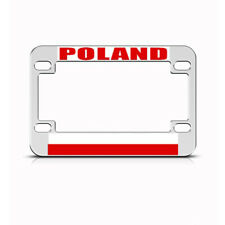 Metal Bike License Plate Frame Poland Polish Style A Motorcycle Accessories