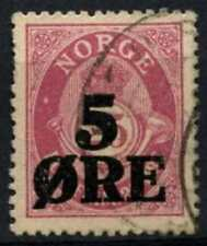 Norway 1922 Sg#162, 5ore On 25ore Magenta Used #D75801
