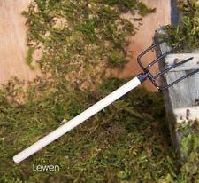 Zubehör für Weihnachtskrippe Miniatur Heugabel aus Holz 12cm