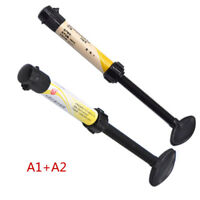 2 Kits Denfil Dental Universal Composite Syringe Light Curing Resin Shade A1+A2