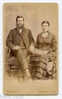 Mr. & Mrs. James Chapman with Photo Album, CDV Photo, Belleville, ON., 1883