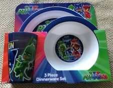BNIB PJ Masks Plastic 3 Piece Dinnerware Set