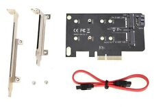 2 Adaptador de ranura tarjeta M clave M.2 NGFF SSD pci-e X4 Adaptador B Clave M.2 NGFF SSD SATA