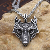 3colors  Norse Vikings Pendant Necklace NORDIC CELTIC Wolf Head Animal Jewelry