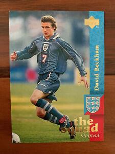 1997 Upper Deck England Soccer Card DAVID BECKHAM TRUE REAL ROOKIE Near Mint 19