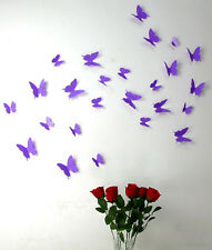 wall stickers 3D butterfly 8 colours decor decal removeable kids home PVC