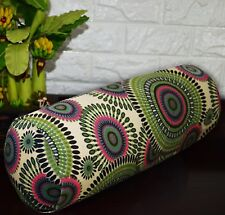 af259g Green Olive Sand Dot Cotton Canvas Yoga Bolster Cushion Cover Custom Size