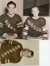 19 - approx 5 x 7 New York Rangers Photos taken from origional 4 x 5 Negs 1940's