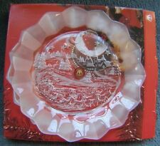 """ORIGINAL WALTHERGLAS CHRISTMAS SCENE SERVING PLATE 9.5"""" APPROX NEW IN BOX."""