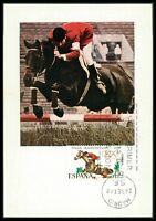 SPAIN MK 1968 OLYMPICS OLYMPIA REITEN MAXIMUMKARTE CARTE MAXIMUM CARD MC CM bf86