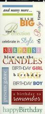 Happy Birthday Sayings Stickers - Me & My Big Ideas