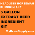 Headless Horseman Pumpkin Ale Homebrew 5 Gal Beer Extract Kit - My Brew Supply