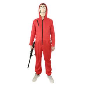 Unisex La casa de Papel Dalí Cosplay Kostüm Maske Overalls Halloween BC517
