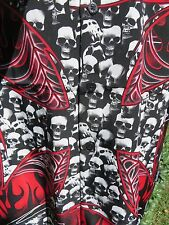 DRAGONFLY SHIRT NEW MEDIUM Iron Bones PG-305 Cross Skulls Black Red