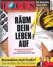 FOCUS Magazin - Heft 02/2018: Räum Dein Leben auf  +++ wie neu +++
