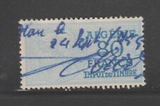 France Algeria revenue fiscal stamp 4-17- UNLISTED? 80Fr