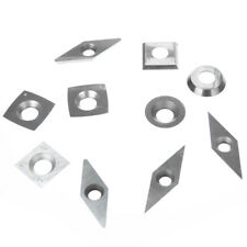 10pcs Diamond Round Square Carbide Turning Tool Tip Insert Bit Wear-Resistant