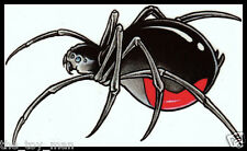 BIG BLACK WIDOW SPIDER INSECT~CREEPY SCARY HALLOWEEN COSTUME~TEMPORARY TATTOO