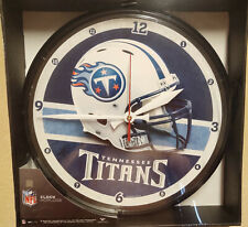 Tennessee Titans Round Chrome Wall Clock