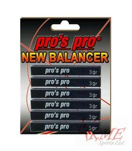 Pro's Pro New Balancer Lead Tape - For Tennis, Squash Rackets and Golf Clubs