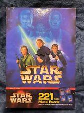 Star Wars 1997 221 Piece Mural Puzzle Scene 4 Trilogy ROTJ Return Of The Jedi