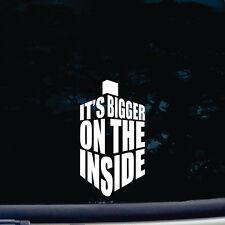 IT'S BIG ON THE INSIDE Funny Novelty Car/Van/Window/Bumper/Laptop Sticker