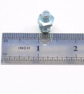 Steel M10 x 1 Grease Nipple Straight 15.2 mm Length Motor Bearings Lube