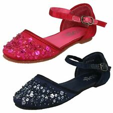 Girls Spot On Flat Shoes with Sequin 'Detail'