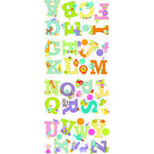 Animal Alphabet Wall Decal Stickers Set Removable Peel Stick York RoomMates N