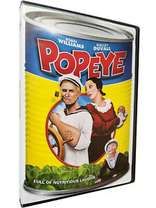 Popeye (DVD, 1980) Robin Williams, Shelly Duvall, Special Spinach Can Cover